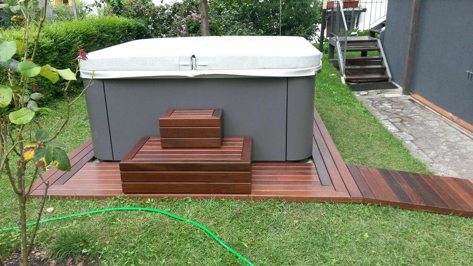 Rivestimento vasca esterna e pavimento in ipe bp bellini - Piscina esterna legno ...